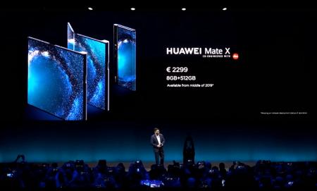 Huawei представляє складний телефон Mate X на MWC 2019